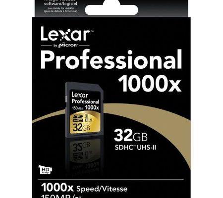 Card de memorie Lexar Professional SDHC 32GB 1000X UHS2, 150MB/s
