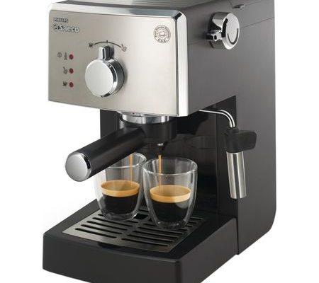 Espressor manual Saeco Poemia HD8425/19, 950W, 15 bar, 1.25l, Negru/Argintiu