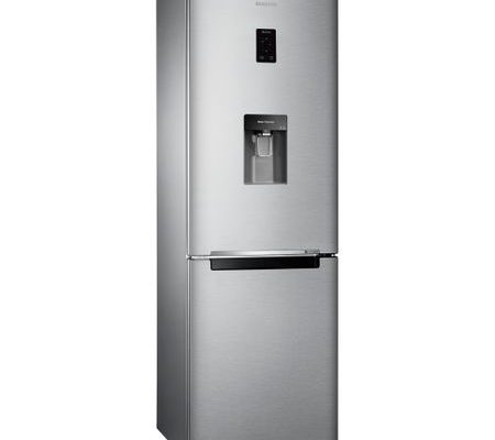 Combina frigorifica Samsung RB33J3830SA/EF, 321 l, Clasa A+, H 185 cm, No Frost, Dozator apa, Display, Metal Graphite
