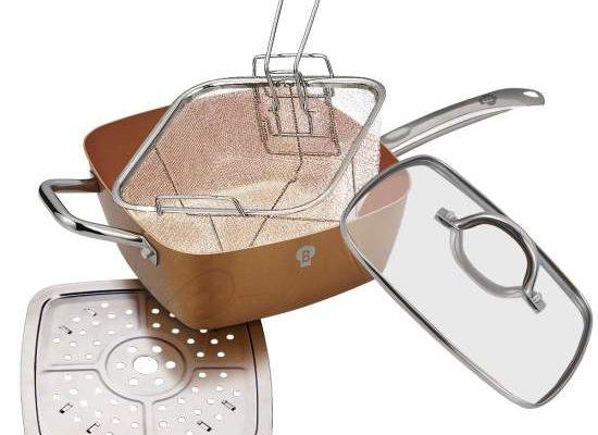 tigaie multifunctionala NonStick Deep Frying Pan pareri recenzie functii si pret