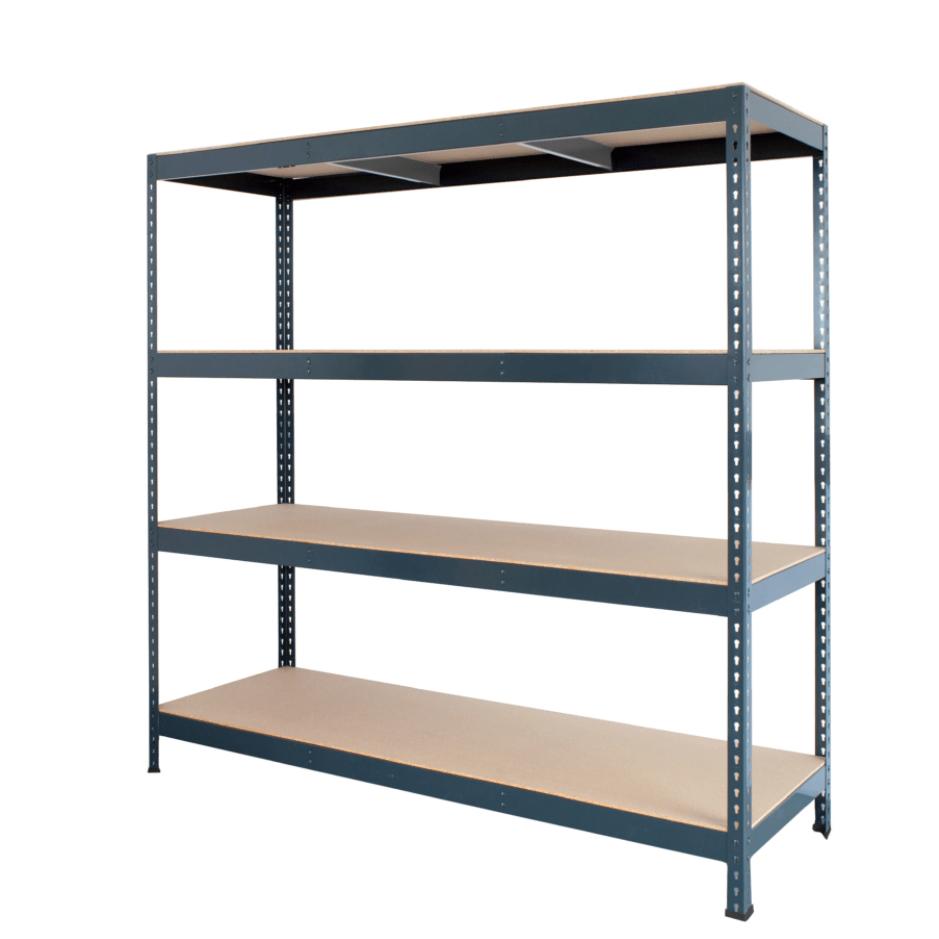 Raft metalic industrial AR Shelving Versatile, 4 polite, 200x200x70cm, 500kg/polita, pretabil pentru magazine mari si depozite