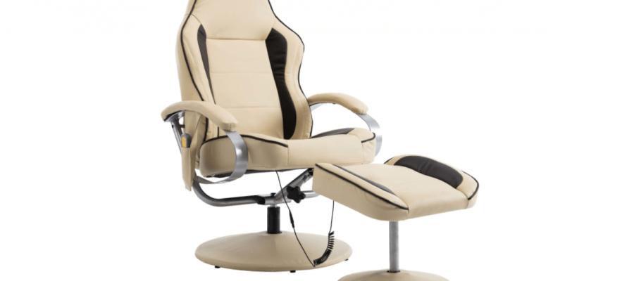 Set fotoliu de masaj cu taburet rabatabil vidaXL pret si pareri